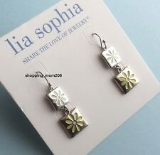 "Lia Sophia ""Sun Kissed"" Silvertone Earrings"