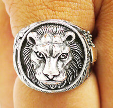 LION KING OF THE JUNGLE WING HEART STERLING 925 SILVER RING Sz 9 MEN'S JEWELRY