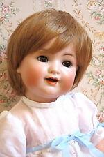 perruque blonde-tête28/30cm poupon poupée ancienne-moderne-doll wig head sz11/12