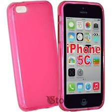 Cover Custodia Per iPhone 5C Silicone Gel TPU Fucsia Retro Opaco + Pellicola