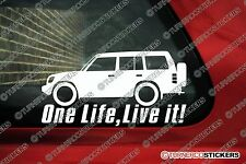 2x 'ONE LIFE, LIVE IT' Mitsubishi Pajero (1991-1999) Stickers 4x4 offroad Decals