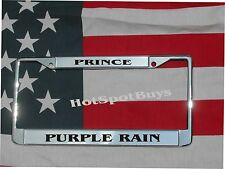 PRINCE Purple Rain Chrome Engraved License Plate Frame FREE SHIPPING