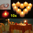 10pcs New LED Amber Yellow Battery Tea Light Party Wedding Flameless Candle