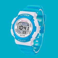Children Boys Digital LED Sports Watch Kids Alarm Date Waterproof Watch Gift SB