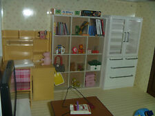 Miniature Re-ment Size Furinture Book Shelf Cabinet Accessory Display Dollhouse