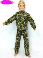 Ken Doll Clothes Fashion Army Combat Uniform Outfit  lot NIP