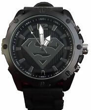 Superman Men's SUP9195 Black Strap Analog Watch