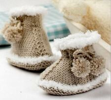 Knitting Pattern Baby Snug Boots Design Bootees