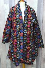 Bella Blue Beautiful Wool  Multicoloured Open Coat With Pockets L/XL Bust 58""