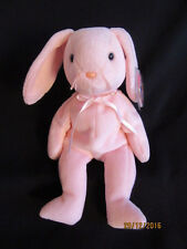 NWT TY BEANIE BABY HOPPITY - THE PINK RABBIT - MADE IN INDONESIA
