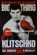 WLADIMIR KLITSCHKO vs CORRIE SANDERS /Original Full-Size HBO Boxing Fight Poster