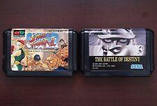 Sega Mega Drive Super Street Fighter The Battle Of Destiny Japan games US Seller