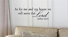 As for me and my house, we will serve the Lord Vinyl wall art Inspirational
