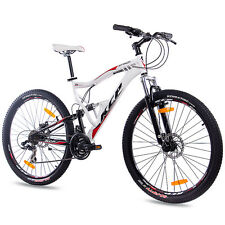 "27,5"" POLLICI MTB MOUNTAIN BIKE BICICLETTA RUOTA KCP Attack 21 marce Shimano bianco"