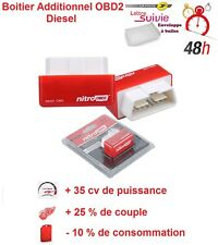 BOITIER ADDITIONNEL CHIP BOX PUCE OBD2 DIESEL PEUGEOT 207 SW SERIE 64 1.6 HDI 90