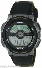 Casio Digital World Time Day Date 10-Year Battery Casual Sport Watch AE1100WB-3A