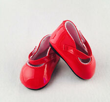 2017 A+ fashion new red shoes for 18inch American girl doll party b382