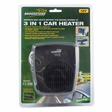 In car dash heater ICE DEMISTER 12v van de ice DELUX 3in1 fan windscreen window