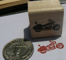 "Miniature motorcycle rubber stamp WM 0.4x0.9"" P24"