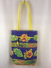 Tara Tiger Yellow Luxury Canvas Tote Island Resort Bag New with Flaw
