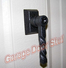 Garage Door Lock  HANDLE ASSEMBLY- WROUGHT IRON - FULLY FUNCTIONAL - NEW