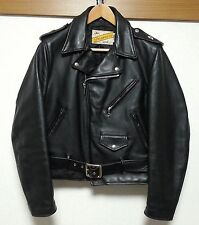 SCHOTT 613 ONE STAR COW TAG! PERFECTO SIZE38  LEATHER DOUBLE JACKET GREAT CON!!