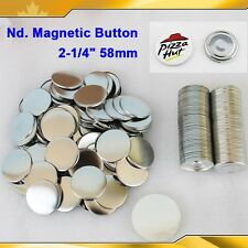 "Nd. Magnetic 2-1/4"" 58mm magnet 100Sets Parts Supplies for Pro Button maker"
