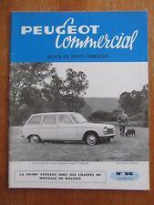 REVUE PEUGEOT COMMERCIAL N°56 BULLETIN DES SERVICES COMMERCIAUX 204 404 1965