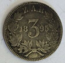 Antique South Africa Three 3 Pence 1895 Silver Coin