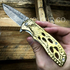 "8"" GOLD EAGLE Spring Assisted Open FOLDING POCKET KNIFE Hunting Tactical"