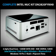 Intel NUC 2.4ghz Mini Desktop PC 128gb SSD 4GB KODI XBMC TV Win10 Pro