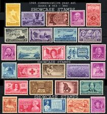 Scott # 953 - 980 1948 Commemorative Year Set  Mint NH 28 stamps