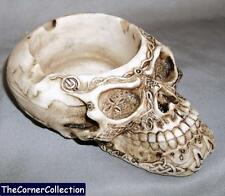 CELTIC SKULL ASHTRAY VALET TRAY INCENSE BURNER