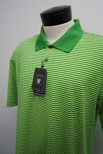 NEW OXFORD River Crest Golf green dry cool max golf polo shirt- L mens#6507 c108