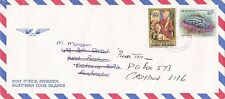 BD207) Penrhyn OHMS Air mail cover bearing: Sci. Names & Christmas. Price: $6
