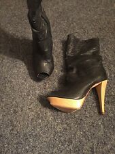 ladies leather designer boots size 5