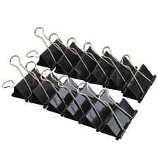 12 x Metal 50mm Binder Clips Stationery Clip Document Paper File Organizer Large