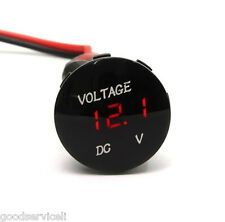 New DC12V Red LED Panel Digital Voltage Meter Display Voltmeter Car Motorcycle