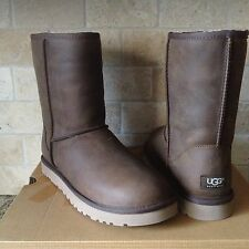 UGG Classic Short Acorn Water-resistant Leather Boots US 5 Womens 1005093