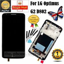 For LG Optimus G2 D802 LCD Display Digitizer & Touch Screen & Frame in Black UK