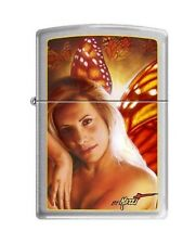 Zippo 5060 Mazzi-Woman & Butterfly Wings Brushed Chrome Lighter