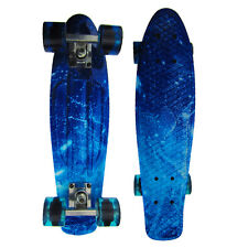 22''Cruisers Skateboard Penny Style Board Graphic Galaxy Starry Board Wheels HQ