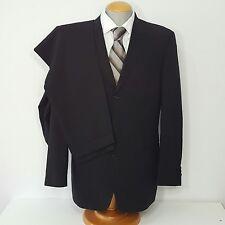 Hugo Boss Mens Suit Black pure wool 42R US Pants 35x32.5