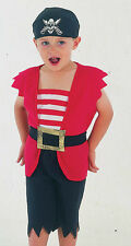 PIRATE BOY TODDLER COSTUME / UNISEX FANCY DRESS - PIRATES HALLOWEEN AGE 2 - 3