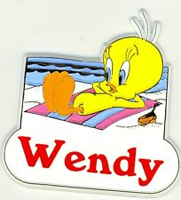 Tweety Bird Name Magnet ~ Wendy ~ Looney Tunes Collectible~ Stocking Stuffer