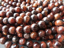 """RED TIGER'S EYE ROUNDS, approx 8.5mm - 9mm, 13"""""""