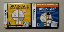 Brain Age + Brain Age 2 Nintendo DS games ships FREE