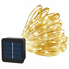 Solar String Lights 100 LED Party Copper Wire Warm White Waterproof Fairy Garden
