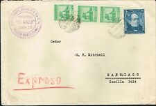 3053 CHILE REGISTERED EXPRESS COVER 1946 PUERTO MONTT - SANTIAGO