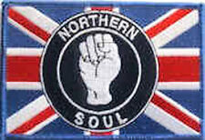 Iron On/ Sew On Embroidered Patch Badge Northern Soul Union Jack NS